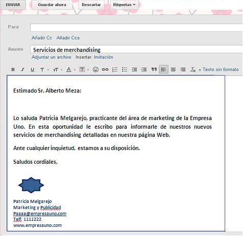 Como redactar un correo empresarial