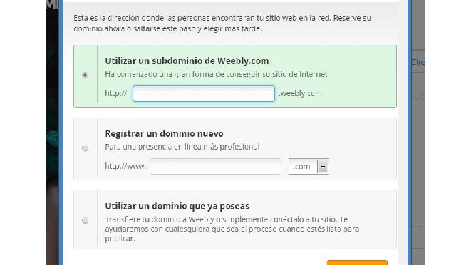 Sitios web gratis con Weebly