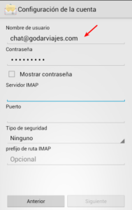 configurar mail android