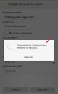 Configuración de Outlook en Android