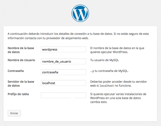 Base de datos WordPress