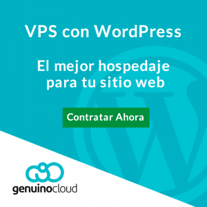VPS con wordpress sitio web - Genuino Cloud