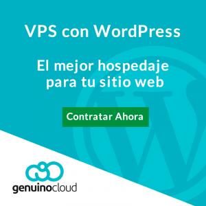 VPS con wordpress sitio web - Genuino Cloud