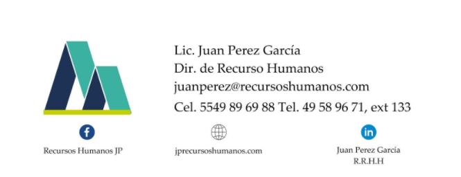 Firma de correo electrónico formal.