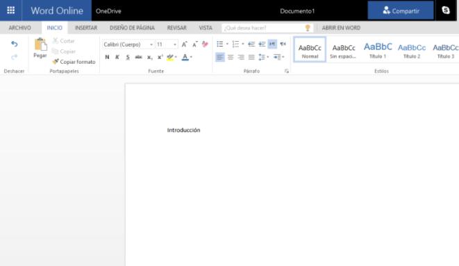 Nuevo documento en OneDrive