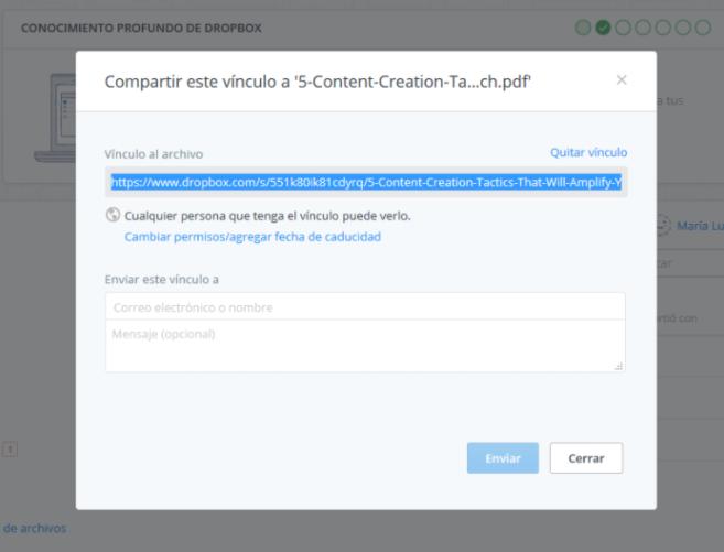 Cargar archivos en Dropbox