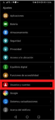 Usuarios y Cuentas en Android