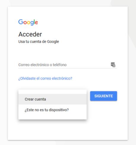 Inicio para acceder a Google Drive
