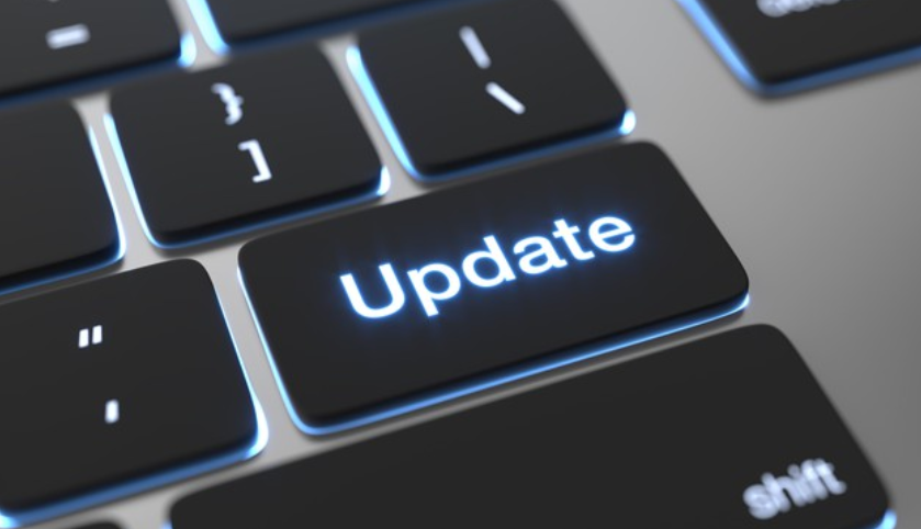 Botón update en teclado