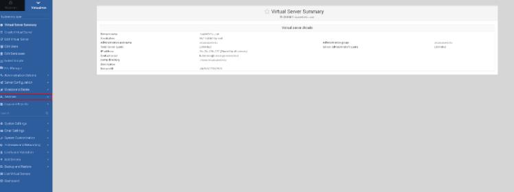 Ingresar a virtualmin